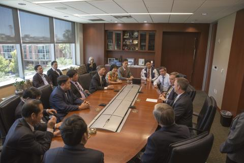Meeting with ASU President Dr. Michael Crow
